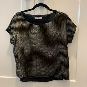Jack by BB Dakota black and gold top Sz Small